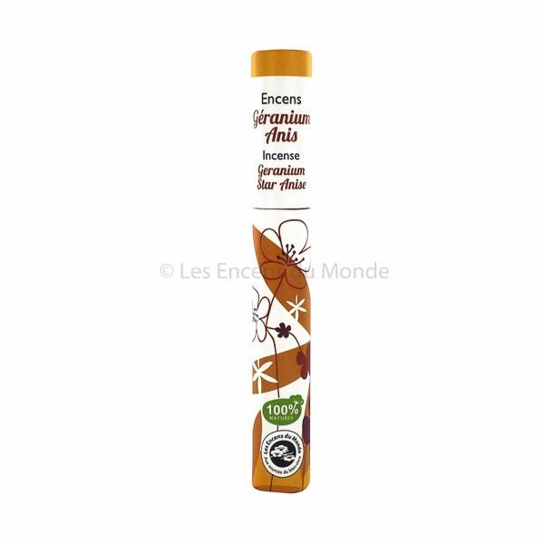 Geranie, Anis - Pflanzliche Räucherstäbchen Herbosense Les Encens du Monde