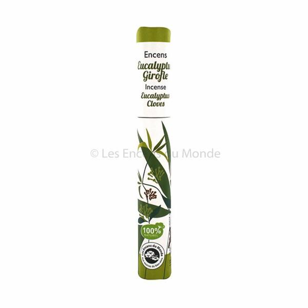Eukalyptus, Gewürznelke - Pflanzliche Räucherstäbchen Herbosense Les Encens du Monde
