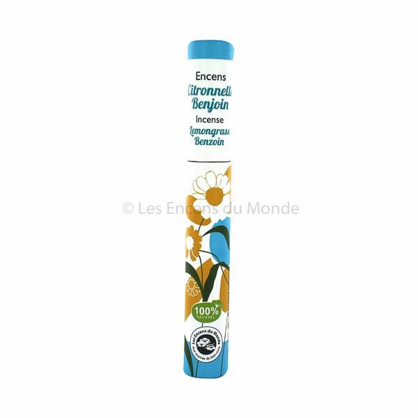 Lemongras, Benzoe - Pflanzliche Räucherstäbchen Herbosense Les Encens du Monde