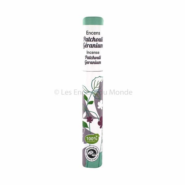 Patchouli, Geranie - Pflanzliche Räucherstäbchen Herbosense Les Encens du Monde