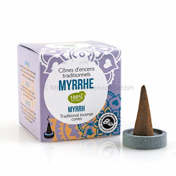 Myrrhe - Indische Räucherkegel Alte Tradition Les Encens du Monde
