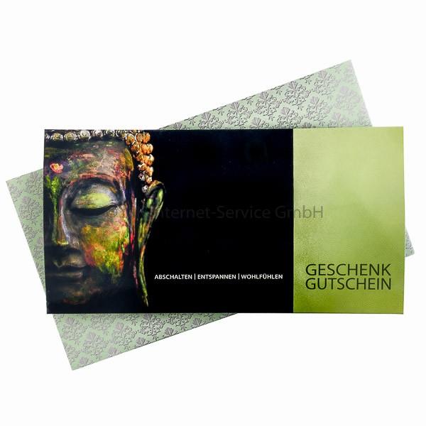 Geschenkgutschein Motiv Buddha 75 € (mit Karte)