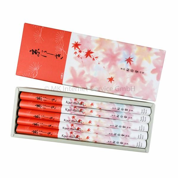 Kyo-nishiki (Kyoto Herbstlaub) 10er Set - Japanische Räucherstäbchen Shoyeido