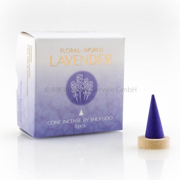 Floral World Lavendel - Japanische Räucherkegel Shoyeido