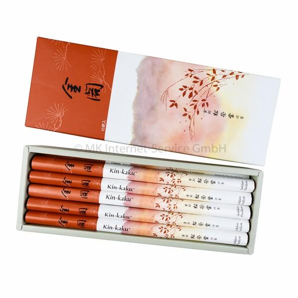 Kin-kaku (Goldener Pavillon) 10er Set - Japanische Räucherstäbchen Shoyeido