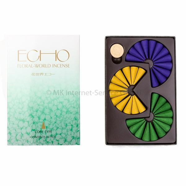 Floral World Echo - Japanische Räucherkegel Shoyeido