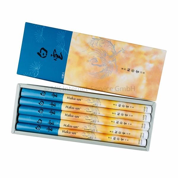 Haku-un (Weiße Wolke) 10er Set - Japanische Räucherstäbchen Shoyeido