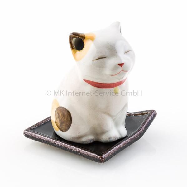 Japanisches Räuchergefäß Katze