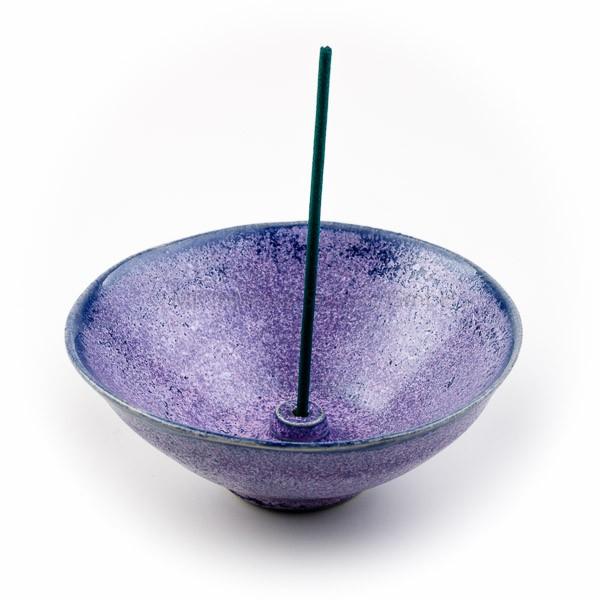 Japanischer Räucherstäbchenhalter Umi (Ozean), violett