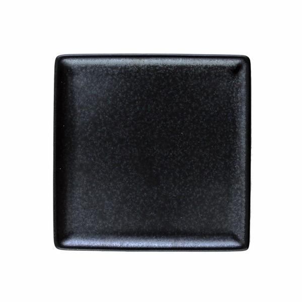 Japanischer Räucherteller aus Keramik, schwarz