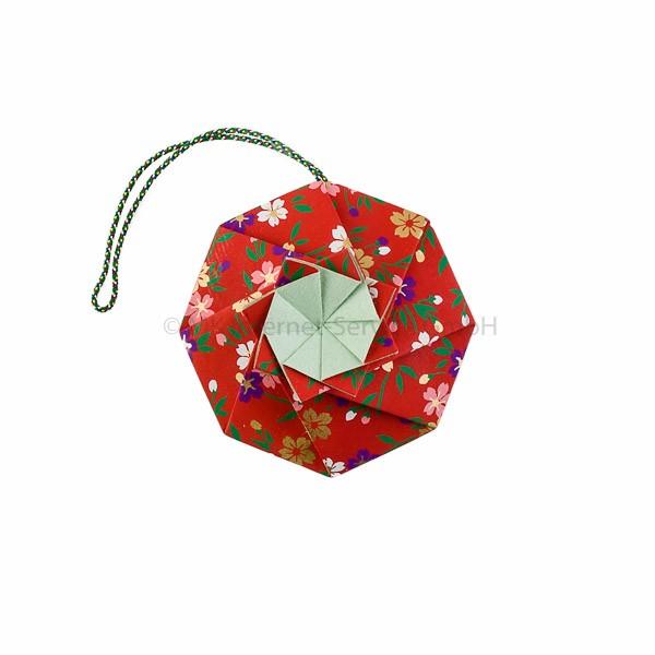 Japanisches Origami Blumen-Sachet Hana-kuruma, rot - Shoyeido