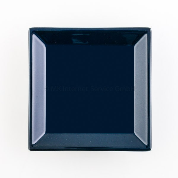 Japanischer Räucherteller aus Keramik, dunkelblau